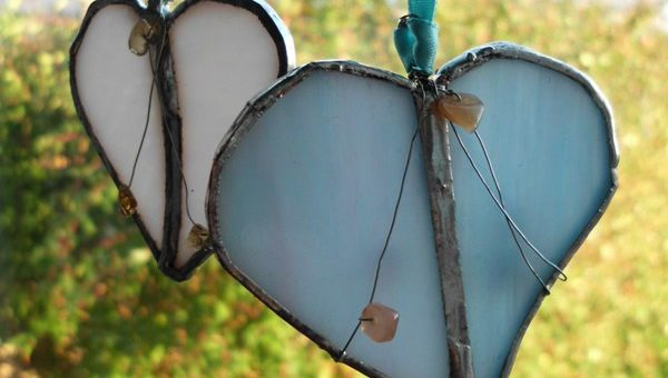 Stained-Glass Hearts