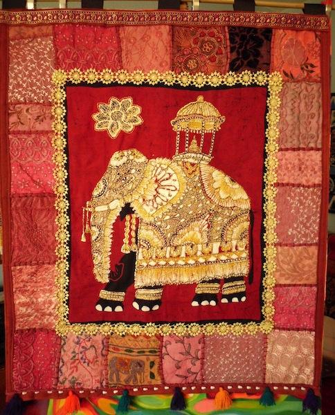 Elephant Art Quilt