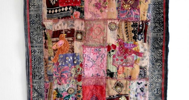 Vintage Shabby Chic Art Quilt